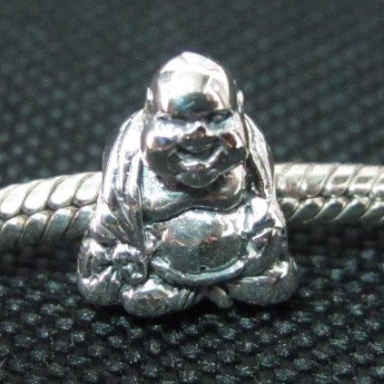 Buddha bead sterling silver