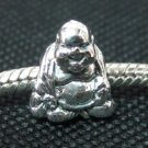 Buddha bead sterling silver