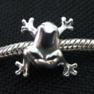 Frog bead sterling silver