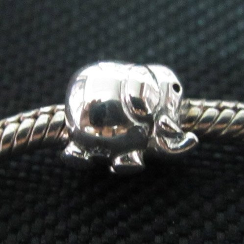 Elephant bead sterling silver