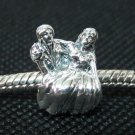 Bride & Groom bead sterling silver