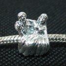 Bride & Groom bead sterling silver