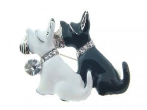 Adorable Austrian Crystal Agatha Scottish Terrier Brooch - FREE SHIPPING