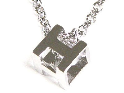 "Gorgeous Swarovski Crystal ""H"" WGP 17 Inch Necklace - FREE SHIPPING"