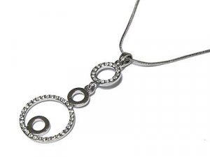 Dazzling Triple Circle of Life Crystal Rhodium Necklace - FREE SHIPPING