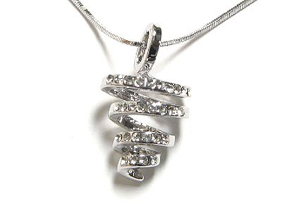 "Beautiful 17"" WGP Austrian Crystal Scribble Necklace - FREE SHIPPING"