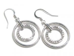 Gorgeous Double Circle of Life Austrian Crystal Earrings - FREE SHIPPING