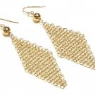 Gorgeous Goldtone Triangular Mesh Earrings - FREE SHIPPING