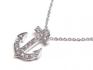 Dazzling Austrian Crystal Anchor Necklace