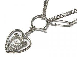 """Eleganza Juicy Rhodium 18"""" Heart Necklace"""