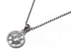 Brilliant Austrian Crystal Wheel Stainless Steel Beaded Necklace