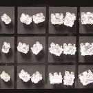 Gorgeous Cubic Zirconia Emerald Cut Stud Post Earrings Jewelry Lot (12 Pack With Display)