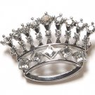 Blazing Austrian Crystal Crown Brooch Pin - FREE SHIPPING