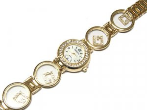 Gorgeous Motion Austrian Crystal Link Gold Watch - FREE SHIPPING