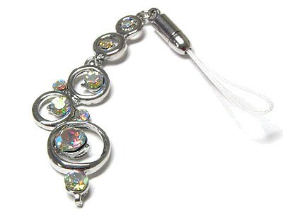 Dazzling Designer Austrian Crystal Bubble Cell Phone Charm