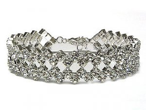 Huge Brilliant Austrian Crystal Boutique Bracelet - FREE SHIPPING