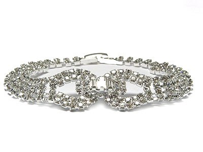Dazzilng Double Circle Austrian Crystal Bracelet - FREE SHIPPING