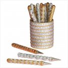 Glittering Gold And Silver Pen Set