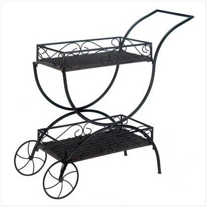 Flower Cart Curio Shelf
