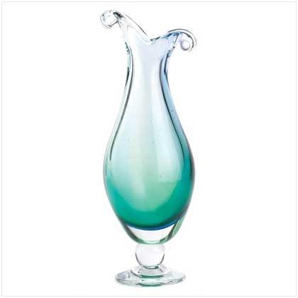 Tranquil Wave Art Glass Vase