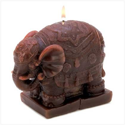 Sculpted Elephant Candle
