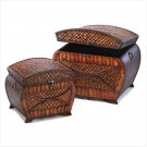 Far East Woven Nesting Chests