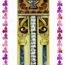Rare New Wood Crystal Mezuzah judaica Torah Doorpost D