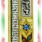 Rare New Wood Crystal Mezuzah judaica Torah Doorpost F