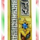 Rare New Wood Crystal Mezuzah judaica Torah Doorpost F