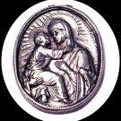 New Metal Catholic Key Chain Mary of Grace & Son Jesus