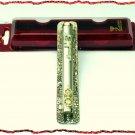 "New 6.5 "" Metal Mezuzah judaica Israel Doorpost Torah A"