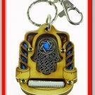 NEW Wood Traveler Prayer Key chain Hamsa Holy Land C