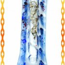 "New 7 "" Glass  Mezuzah judaica Israel Torah Doorpost A"