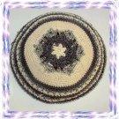 GOLD MAGEN DAVID Knitted Yarmulke Yarmulka Kipa Kippa
