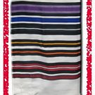 JEWISH MULTICOLOR TALLIT PRAYER SHAWL WOOL TALIT  S=55