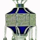 "Finials RIMONIM FOR TORAH 29 cm / 11.4 ""  DARK BLUE NEW"