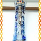 "New 6.5 "" Glass Mezuzah judaica Israel Doorpost Torah"