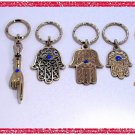 6 SILVER HAMSA KABBALAH EVIL EYE KEY CHAIN – Prayer 1