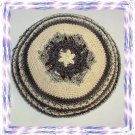 GOLD MAGEN DAVID Knitted Yarmulke Kipa Kippa Yarmulka