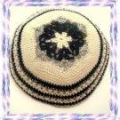 BLUE MAGEN DAVID Knitted Yarmulke Yarmulka Kippa Kipa