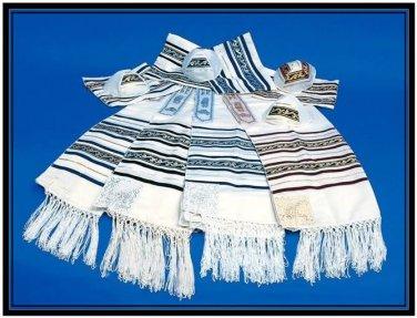 Best CHAIN JEWISH TALLIT PRAYER SHAWL S24 JUDAICA ISRAEL