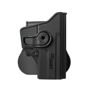 Black Polymer Retention Roto Gun Holster For Sig Sauer P250 C (Compact)