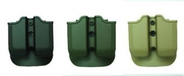 IMI New Black Green Desert Tan Double Mag Pouch for Glock 37/38/39 use by IDF