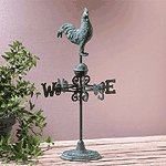 31086 Rustic Rooster Weathervane In Cast Iron, Brass & Aluminum