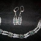 Faux Pearl bracelet and earring set