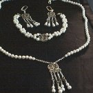 Faux Pearl and Sterling Silver set