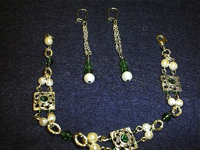 Faux Pearl and Swarovski Pearl