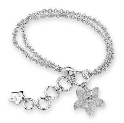 STAR Starfish Bracelet Platinum Plated 925 Silver Rock