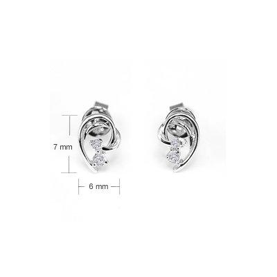 Half Heart Party Cocktail Jewelry Diamond Stud Earrings