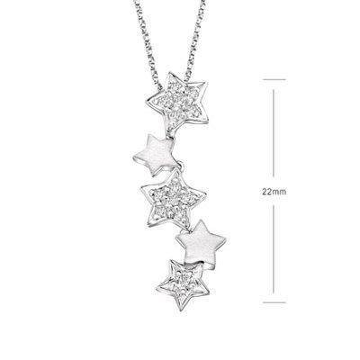 Lucky STAR STUNNING White Gold Diamond Necklace Pendant